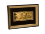 Australia $100 Note Replica in 24 Carat Gold Framed